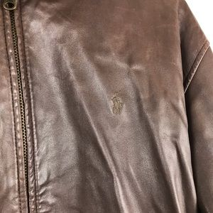 Polo by Ralph Lauren Jackets & Coats - Polo Ralph Lauren Brown Leather Jacket Size Large